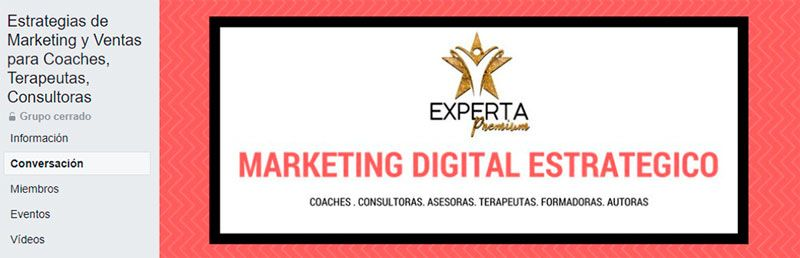 Estrategias de Marketing y Ventas para Coaches, Terapeutas, Consultoras (Grupo de Facebook)