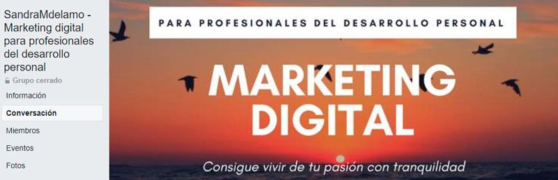 SandraMdelamo -Marketing digital para profesionales del desarrollo personal