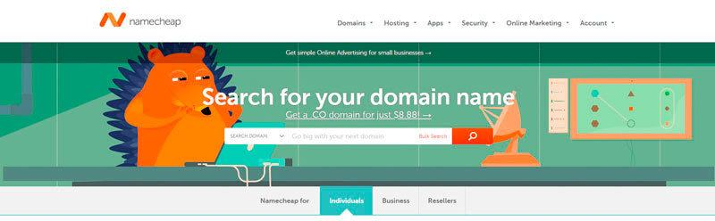 Comprar Dominio web en Namecheap