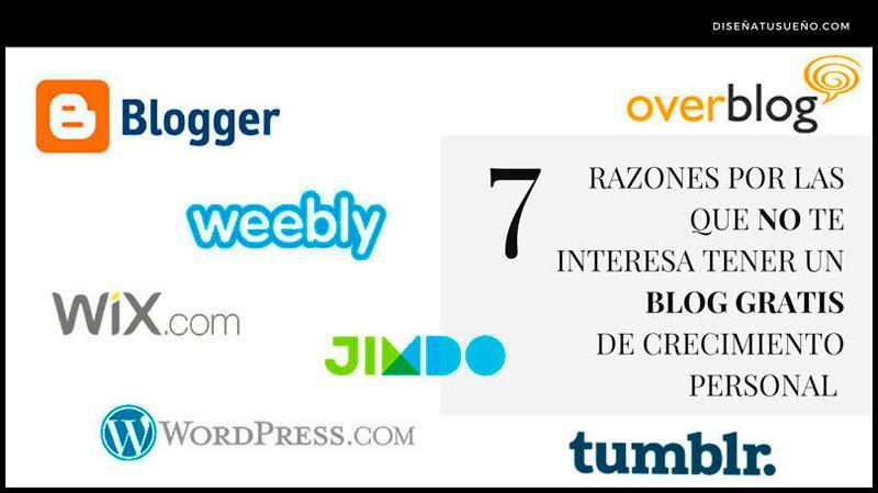 7 razones por las que no te interesa tener un blog gratis de Crecimiento Personal